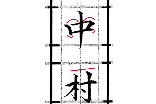 中村の書き方