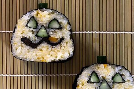 飾り巻き寿司を作ろう!ハロウィン
