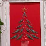 12/5(火)紙刺繍で作るストリングアートのクリスマスカード