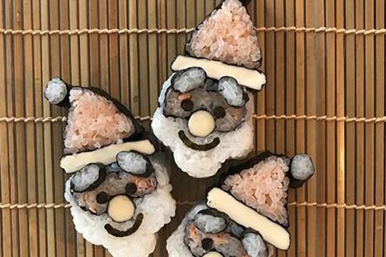 飾り巻き寿司 サンタクロース