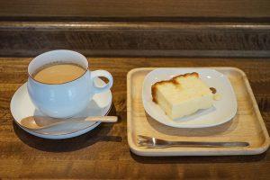 SHIBA COFFEE カフェオレ ベイクドチーズケーキ