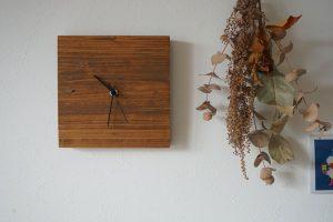 DIY 木 時計