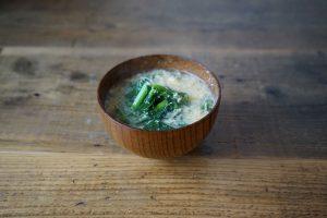 のらぼう菜 味噌汁